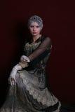 женщина язычка ретро Стоковая Фотография RF