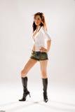 женщина диско танцы Стоковая Фотография RF