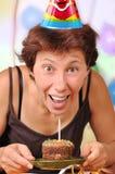 женщина дня рождения s Стоковое Изображение RF