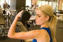 женщина 10 weightlifter Стоковое Изображение RF