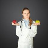 женщина 2 доктора яблок Стоковое Фото