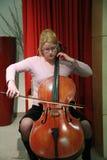 женщина 2 celloplayer Стоковые Фотографии RF