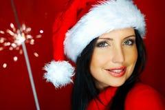 женщина 2 santas Стоковая Фотография