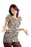 женщина 21 счастливая супоросая недели Стоковые Фотографии RF