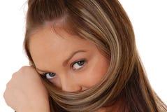 женщина 26 брюнет симпатичная Стоковое фото RF
