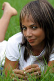 женщина 3 полей травянистая Стоковые Изображения RF