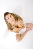 женщина 3 усаженная крылов Стоковая Фотография RF