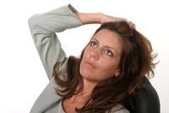женщина 3 дел ослабляя Стоковые Фотографии RF