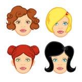 женщина 4 волос Стоковое Изображение RF