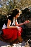 женщина 4 цыганин стоковое изображение