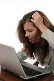 женщина 5 дел разочарованная Стоковое фото RF