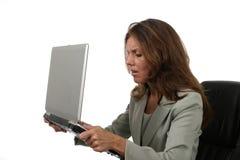 женщина 6 дел разочарованная Стоковые Фото