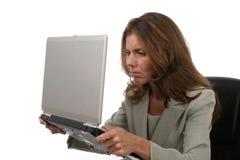 женщина 7 дел разочарованная Стоковое Фото
