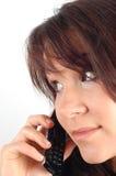 женщина 7 телефонов Стоковое Изображение RF