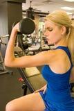 женщина 9 weightlifter Стоковое Изображение