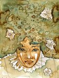 Женщина Abstrack иллюстрация штока