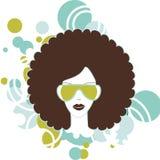 Женщина Afro Стоковые Фотографии RF