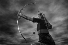 Женщина Archery стоковое изображение