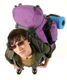женщина backpack Стоковые Фотографии RF