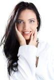 женщина bathrobe Стоковые Фотографии RF