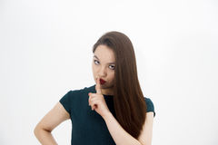 Женщина Beatifull на белой предпосылке Стоковое Фото