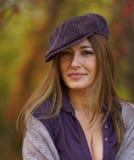 Женщина Beautuful в крышке Стоковое Изображение RF