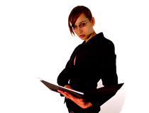женщина clipboard дела Стоковые Изображения RF
