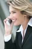 женщина corproate мобильного телефона дела Стоковые Фото