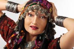 женщина costume индийская возмужалая традиционная Стоковая Фотография RF