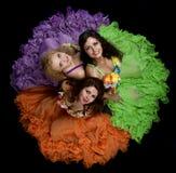 женщина costume 3 цвета масленицы Стоковое фото RF