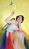 женщина costume fairy нося Стоковые Фото