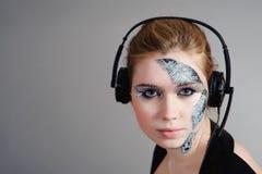 женщина cyber Стоковое Изображение RF