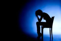 женщина despair нажатия Стоковые Фотографии RF
