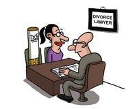 Женщина divorcing сигарета иллюстрация вектора