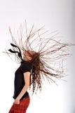 женщина dreadlocks Стоковое Изображение