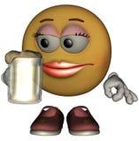 женщина emoticon одиночная Стоковая Фотография RF