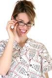 женщина eyedoctor милая стоковое фото