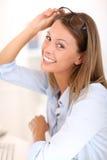женщина eyeglasses сь Стоковая Фотография