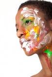 женщина facepaint Стоковые Фотографии RF