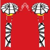 Женщина fatale femme шестидесятых годов вектора ретро винтажная Стоковые Фото