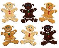 женщина gingerbread рождества иллюстрация штока