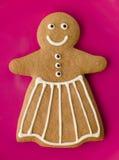 женщина gingerbread Стоковое Изображение