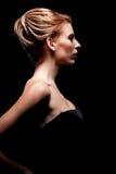 Женщина Glamor с стилем причёсок стоковые изображения rf