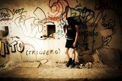 женщина goth унылая Стоковая Фотография RF