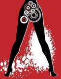 женщина grunge предпосылки сексуальная Стоковое Изображение RF