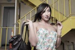 женщина headshot стильная Стоковые Изображения