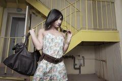 женщина headshot стильная Стоковое фото RF