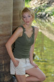 женщина hiker Стоковое фото RF