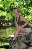 женщина hiker Стоковое Фото