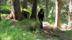 Женщина Hiker сток-видео